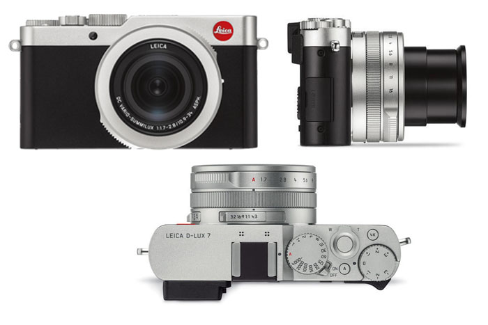 Leica D-Lux 7 front view - top view -side view