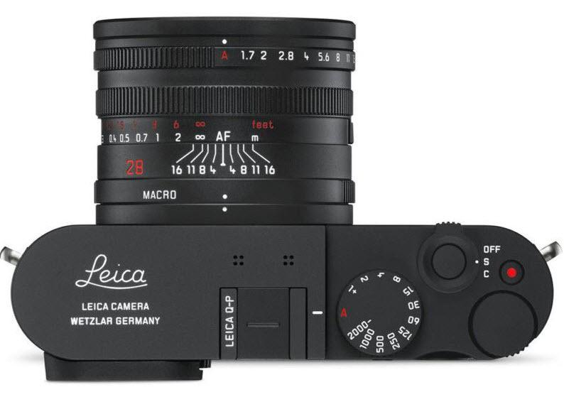 Leica Q-P camera top view