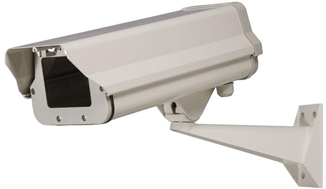 Weatherproof security camera enclosure