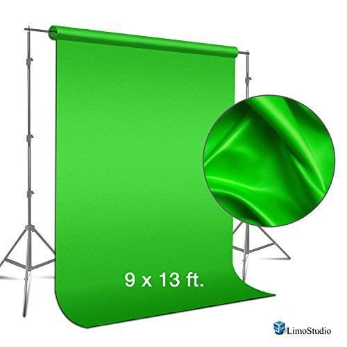 LimoStudio 9-foot x 13 foot Green Fabricated Chroma key Backdrop Background Screen for Photo i review